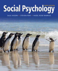 Social Psychology 9th 9E Saul Kassin