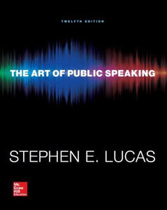The Art of Public Speaking 12th 12E