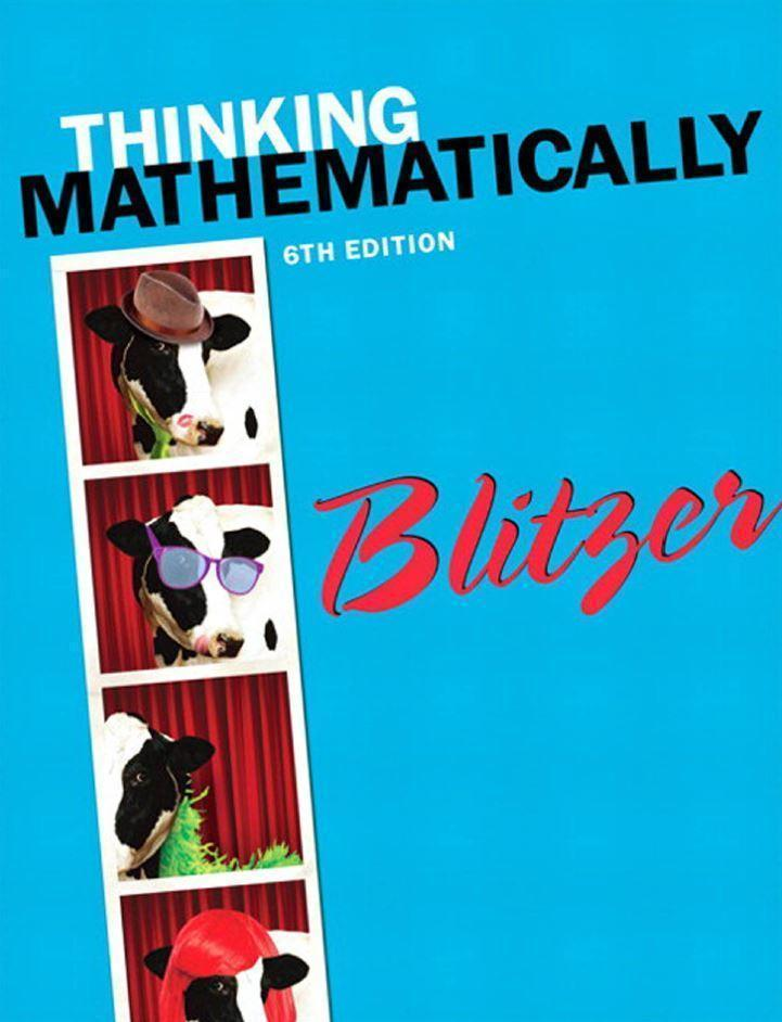 Thinking Mathematically 6th edition by Robert Blitzer