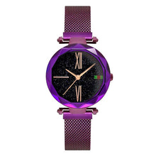 Load image into Gallery viewer, Luxury Rose Gold Women Watches Minimalism Starry sky Magnet Buckle Fashion Casual Female Wristwatch Waterproof