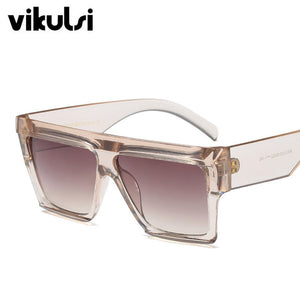 Unisex Star Style Brand Designer Sunglasses Women Vintage Luxury Flat Top Full Frame Sun glasses For Female Male Shades UV400