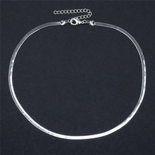 Load image into Gallery viewer, Simple Luxury Snake Choker Necklace Women Fashion Jewelry Gold Silver Chocker Flat Necklaces
