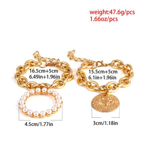 Exaggerated Charm Pearl Crab Pendant Bracelet Fashion Summer Jewelry for Women Ladies Cuff Bracelets Bangles Female Gifts