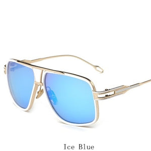 Sunglasses  Women Flat Top Sunglasses Square Point Mirror High Quality Five Style Female