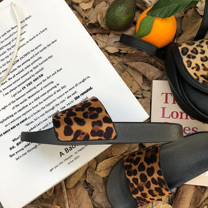Indoor & Outdoor  Leopard print summer slippers