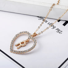 Load image into Gallery viewer, Love Heart Necklaces & Pendants Double Rhinestone Choker Necklace Women Statement Jewelry