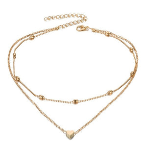 Ailend design simple multi layer chain necklace new gift  ladies necklace trend
