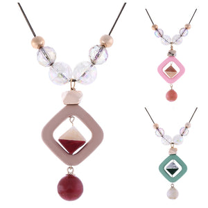 Women's Sweater Long Necklace for Women Acrylic Beads Necklaces & Pendants New Fashion Jewelry for Gifts to a Woman