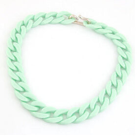 Statement Chunky Long Chain Necklaces For Women Boho Colorful Plastic Chain Choker Necklaces Pendants Fashion Women Jewelry