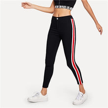 Load image into Gallery viewer, Stripe Tape Side Jeans Streetwear Red and White Casual Trousers