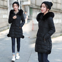 Load image into Gallery viewer, Faux Fur Parkas Women Down Jacket Winter Jacket Women Thick Snow Wear Winter Coat Lady Clothing Female Jackets Parkas