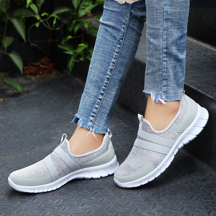 Sneakers Women Breathable Mesh Shoes Woman Ballet Slip On Flats Loafers Ladies Shoes Creepers