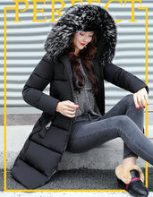 Load image into Gallery viewer, New Winter Jacket Women Large Fur Collar Padded Cotton Warm Jacket Winter Coat Women Parka Casacos de inverno feminino