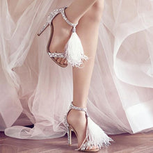 Load image into Gallery viewer, Luxury Rhinestone High Heel Sandals Women Sexy Tassel Wedding Shoes Women Elegant Party Sandals Shoes