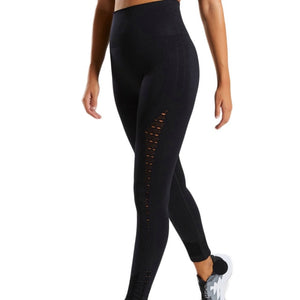 Full Length Solid Yoga Trousers Women High Waist Trousers Gym Shark Running Leggings Women