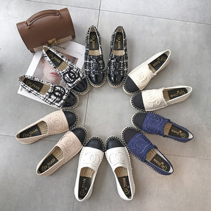 Women Shoes Fisherman Shoes Canvas Slip-on Casual Loafers Flats Comfortable Casual Mules