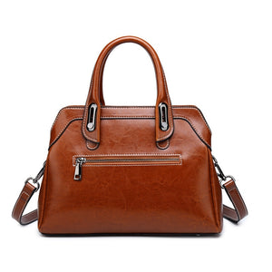 Vintage Business Leather Luxury Handbags Shoulder Bags For Women Designer Female Pochette Ladies Crossbody Satchel