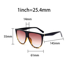 Load image into Gallery viewer, Thin Flat Top Sunglasses Women Luxury Retro Vintage  Sunglasses Clear Glass