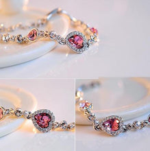 Load image into Gallery viewer, The New Listing Classic Ocean Heart Crystal Silver Fashion Bracelets Korean Jewelry Women's Gift Wholesale