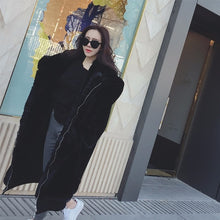 Load image into Gallery viewer, Winter Faux Fur Coat Women Long Warm Faux Fur Jacket Coat Casual Hoodies Loose Pocket Coat Outwear casaco feminino