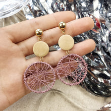 Load image into Gallery viewer, Luxury Simple Big Round Earrings Women Fashion Korean Style Hollow Mesh Drop Earrings Statement Jewelry