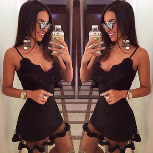 Fashion Hot Sale Summer Sexy Sleeveless lace beach Evening Party Short Mini Dress Women Casual bandage bodycon Dress
