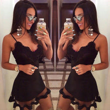 Load image into Gallery viewer, Fashion Hot Sale Summer Sexy Sleeveless lace beach Evening Party Short Mini Dress Women Casual bandage bodycon Dress