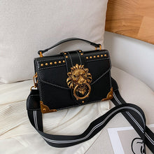Load image into Gallery viewer, Female Fashion Handbags Popular Girls Crossbody Bags Totes Woman Metal Lion Head Brand Shoulder Purse Mini Square Messenger Bag