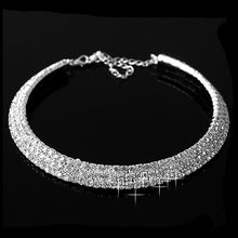 Load image into Gallery viewer, Hot Sale Women Fashion Jewelry Silver Color Crystal Rhinestone Collar Necklace Choker Necklaces Wedding Birthday Party  Jewelry
