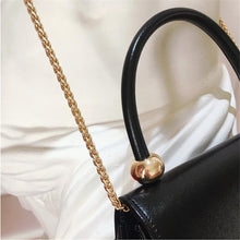 Load image into Gallery viewer, Retro female brand design black Women's PU Leather Shoulder Bag Sun decoration Women Crossbody Bags Handbags For Ladies