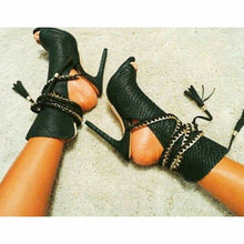 Load image into Gallery viewer, Women Pumps High Heel Sandals Gladiator Sandal Shoes Party Dress Shoe Woman Black Women Shoes High Heels Sexy