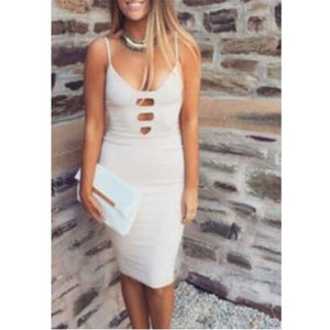 Women's Dress Bandage Bodycon Sleeveless Evening Party White Club Elegant New Hot Sale