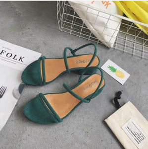 New Flat outdoor slippers Sandals foot ring straps beaded Roman sandals fashion low slope with women's shoes low heel shoes  x69