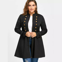 Load image into Gallery viewer, Longline Coat Double Breasted Flare Windbreaker Jacket Coat Plus Size XL-5XL
