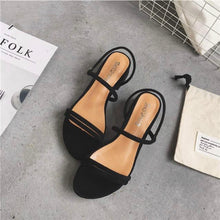 Load image into Gallery viewer, New Flat outdoor slippers Sandals foot ring straps beaded Roman sandals fashion low slope with women's shoes low heel shoes  x69