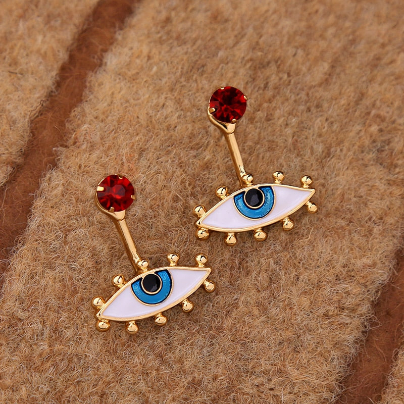 New Personality Retro Exaggeration Eye Metal Pendant Drop Earring, Fashion Accessories Wholesale