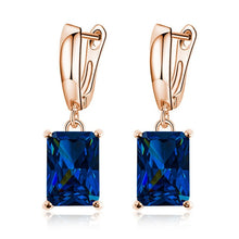 Load image into Gallery viewer, New Arrival Fashion Green Blue Crystal Earrings For Women Girls Vintage Drop Earrings Statement Wedding Jewelry Wholesale