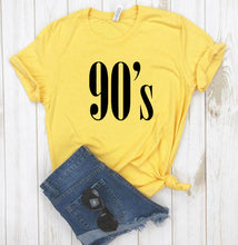Load image into Gallery viewer, 90's Letters Women T shirt Cotton Casual Funny tshirts For Lady Top Tee Hipster Tumblr 6 Colors Drop Ship CB-6