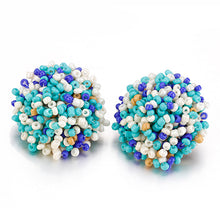 Load image into Gallery viewer, Simple Multicolor Drop Earrings For Women Bohemia Handmade Beaded Ball Earrings Wedding Accessories Jewelry Pendientes