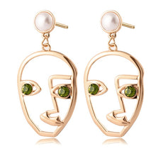 Load image into Gallery viewer, New Korean Heart Statement Drop Earrings for Women Fashion Vintage Geometric Acrylic Dangle Hanging Earring Jewelry