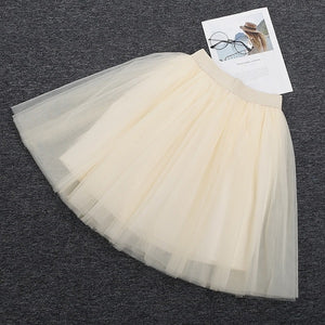 Puffy New Arrival 5 Layer Fashion Women Tulle Skirt Tutu Wedding Bridal Bridesmaid Overskirt Petticoat Lolita Saia