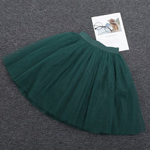 Load image into Gallery viewer, Puffy New Arrival 5 Layer Fashion Women Tulle Skirt Tutu Wedding Bridal Bridesmaid Overskirt Petticoat Lolita Saia
