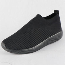 Load image into Gallery viewer, Women Sneakers Female Knitted Vulcanized Shoes Casual Slip On Ladies Flat Shoe Mesh Trainers Soft Walking Footwear Zapatos Mujer