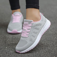 Load image into Gallery viewer, Women casual shoes solid color casual shoes women canvas shoes tenis feminino  new arrival fashion lace-up women sneakers