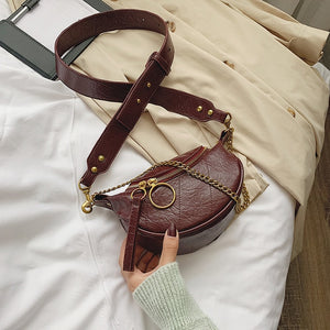 Fashion Quality PU Leather Crossbody Bags For Women  Chain Small Shoulder Messenger Bag Lady Travel Handbags and Purses