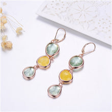 Load image into Gallery viewer, Water Drop Long Earrings For Women Girls Gold Color Alloy Female Dangle Hanging Earring Fashion Ear Jewelry Brincos 2018