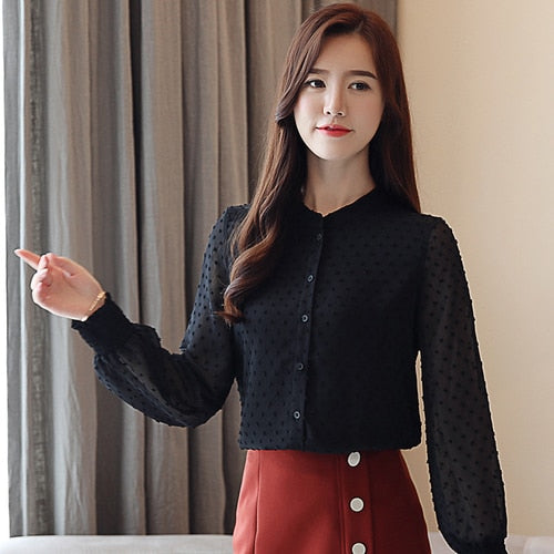 fashion woman blouses spring long sleeve women shirts white blouse tops office work wear women blouse shirt blusas 0974 60
