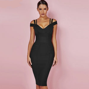 New Women Bodycon Dress  Summer Sexy Bandage Off Shoulder Sexy High Quality Wine Red Bandage Dress Rayon Plus Size