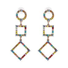 Load image into Gallery viewer, Bohemian Multicolor Animal Lobster Shaped Crystal Dangle Earrings Statement Jewelry Drop Earrings