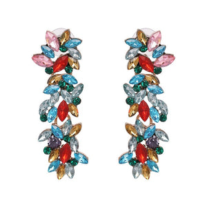 Bohemian Multicolor Animal Lobster Shaped Crystal Dangle Earrings Statement Jewelry Drop Earrings